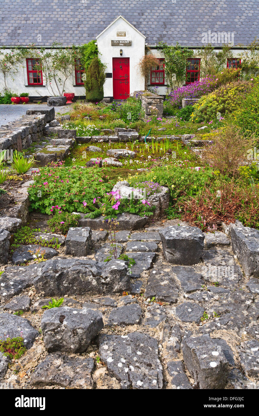 A picturesque cottage in the village of Ballyvaughan, County Clare, Ireland, Europe - Stock Image