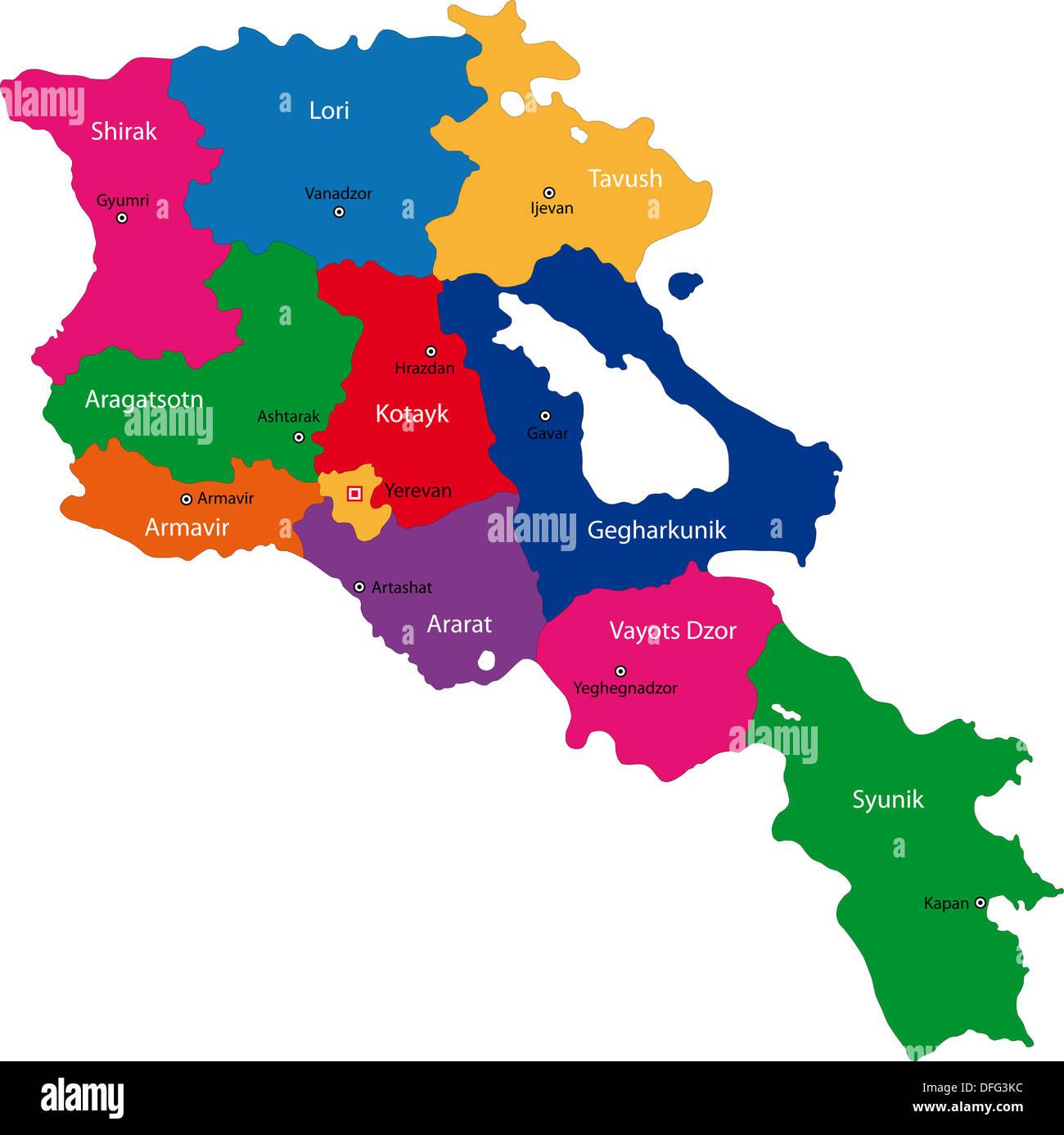Armenia map - Stock Image