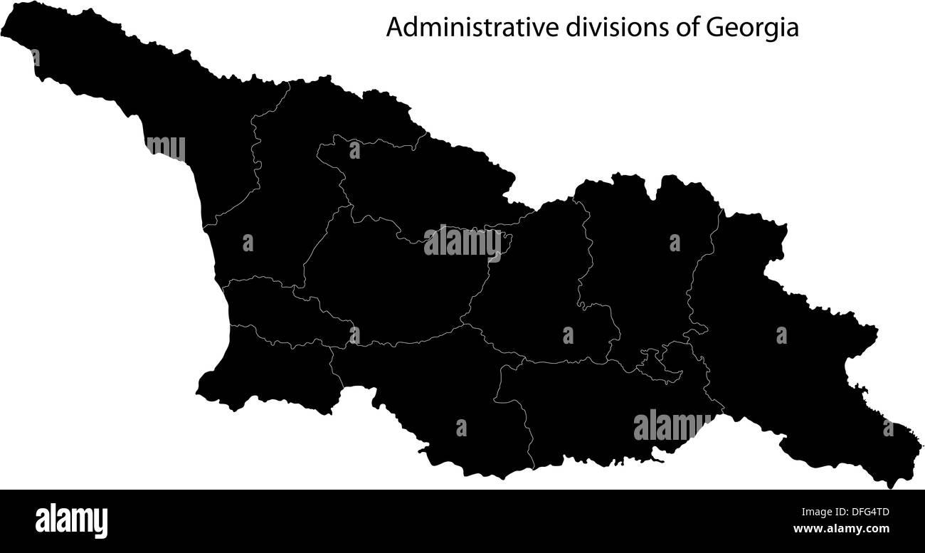 Black Georgia map - Stock Image