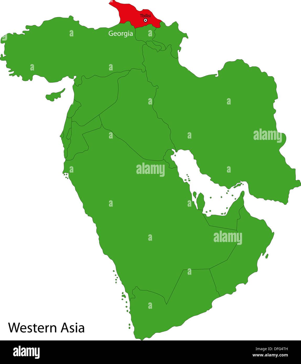Georgia map - Stock Image