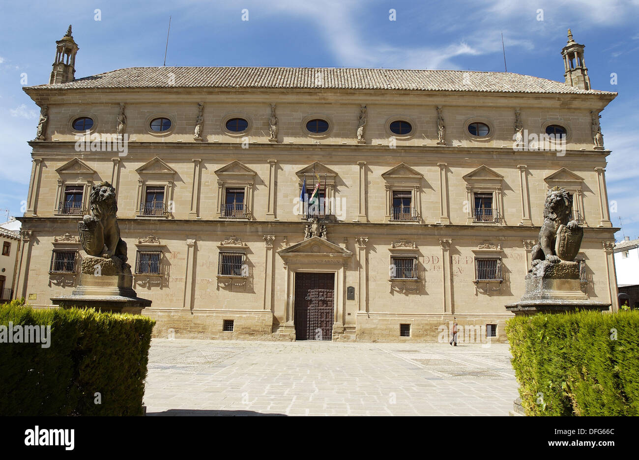 Palacio de las Cadenas in the town of Ubeda, now occupied by the Town Hall. Jaen province. Andalusia. Spain - Stock Image