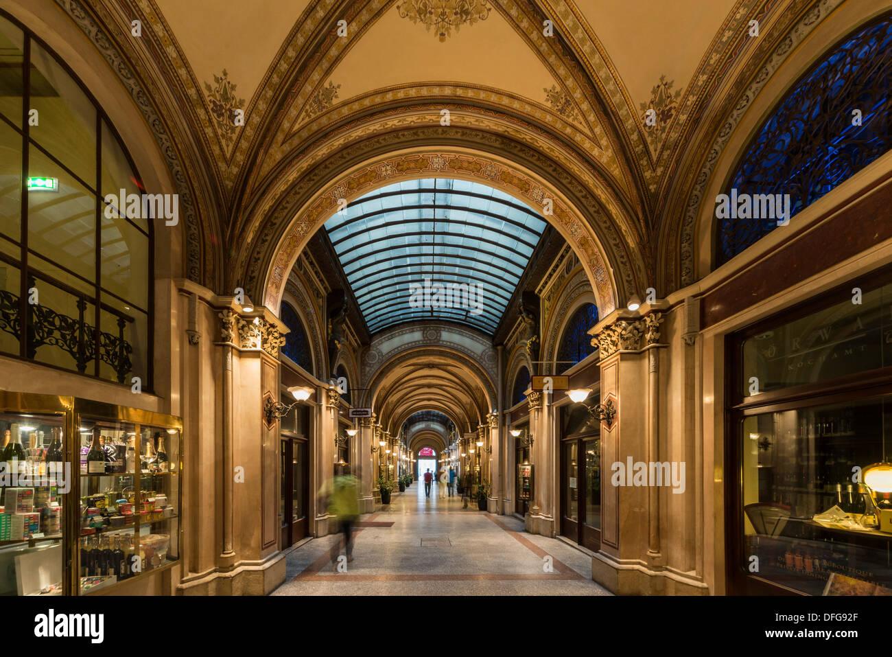 Freyung Passage or Ferstel Passage shopping arcade, Innere Stadt, Vienna, Vienna State, Austria - Stock Image