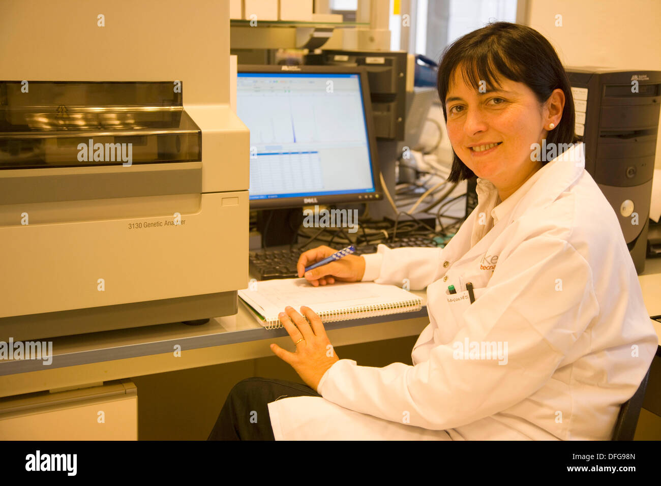 Varietal Identification using Microsatellites, Capillary electrophoresis-ABI, Biotechnology Laboratory, Neiker Tecnalia, - Stock Image