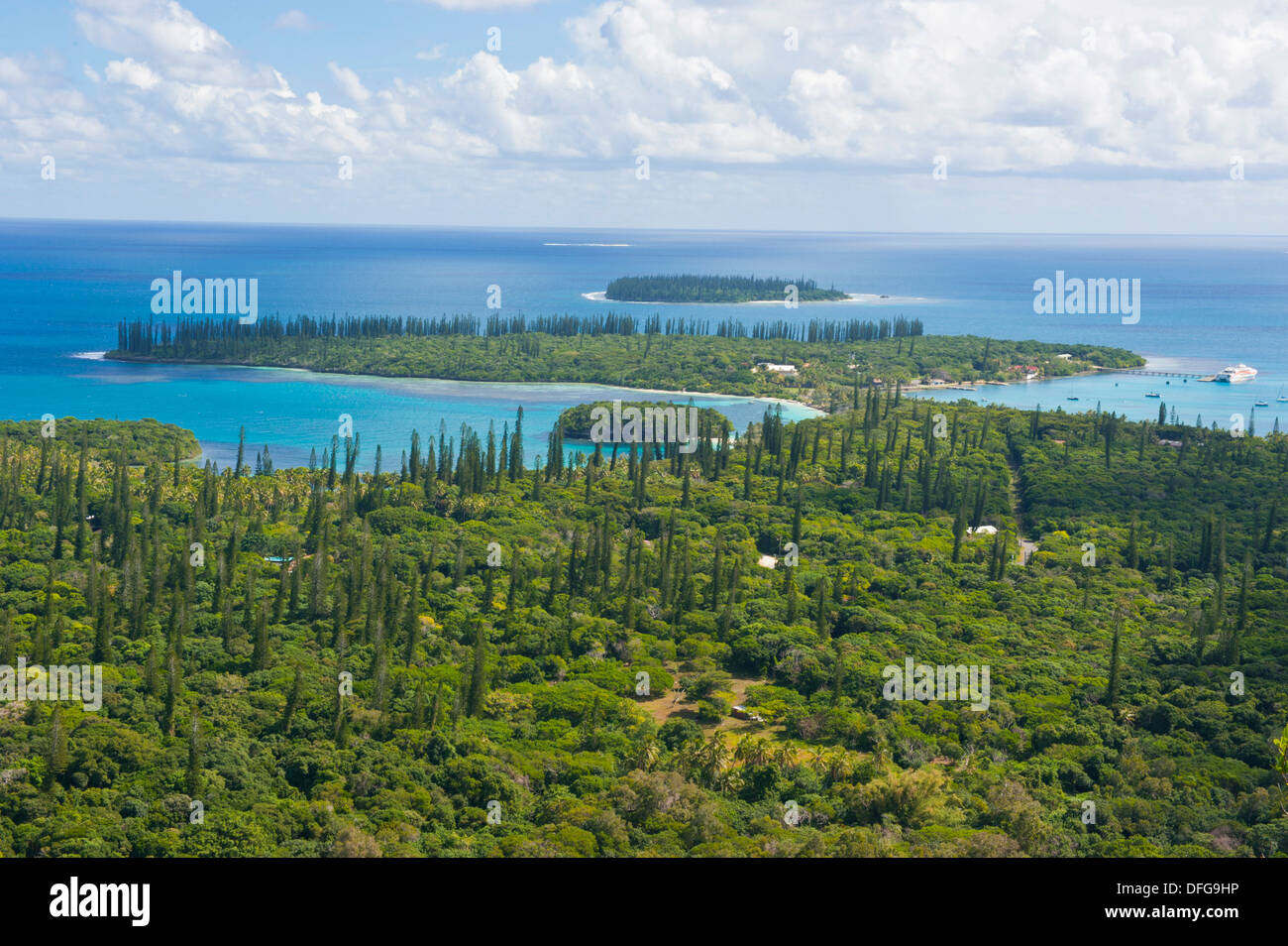 Overlooking the Ile des Pins, Île des Pins, New Caledonia, France - Stock Image
