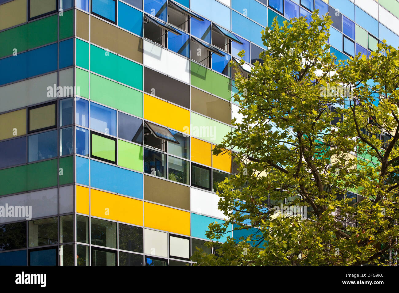BioMedizinZentrum Bochum, BMZ or BioMedicine Centre, Bochum, Ruhr district, North Rhine-Westphalia, Germany - Stock Image