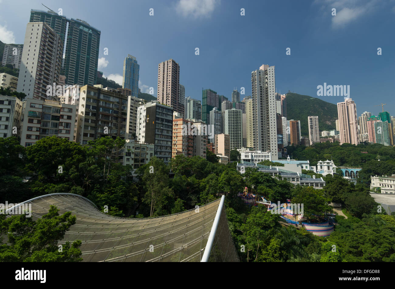 Looking Down Onto The Hong Kong Zoological And Botanical Gardens Stock Photo 61212600 Alamy