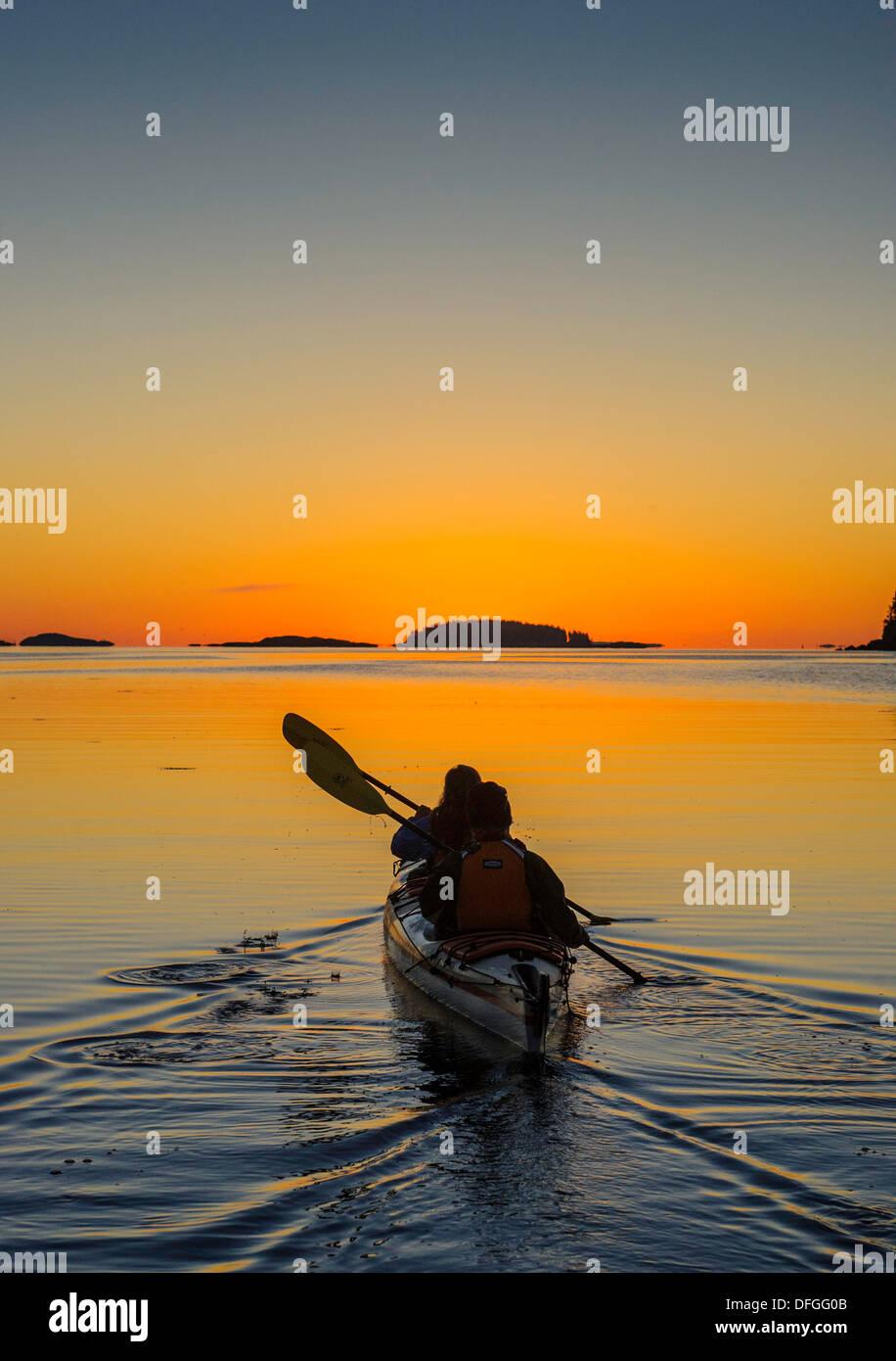 Kayaking Bay of Fundy - Stock Image