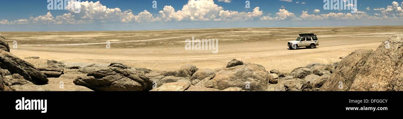 Sowa Pan by the Lekhubu Island, Botswana - Stock Image