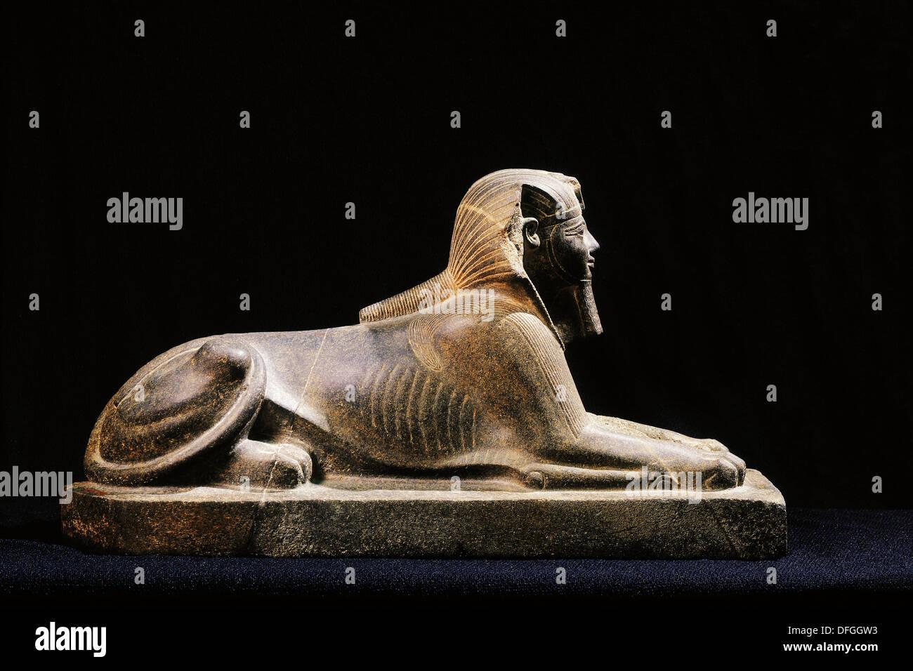 Sphinx od Thutmose III. Egyptian Museum. Egypt - Stock Image