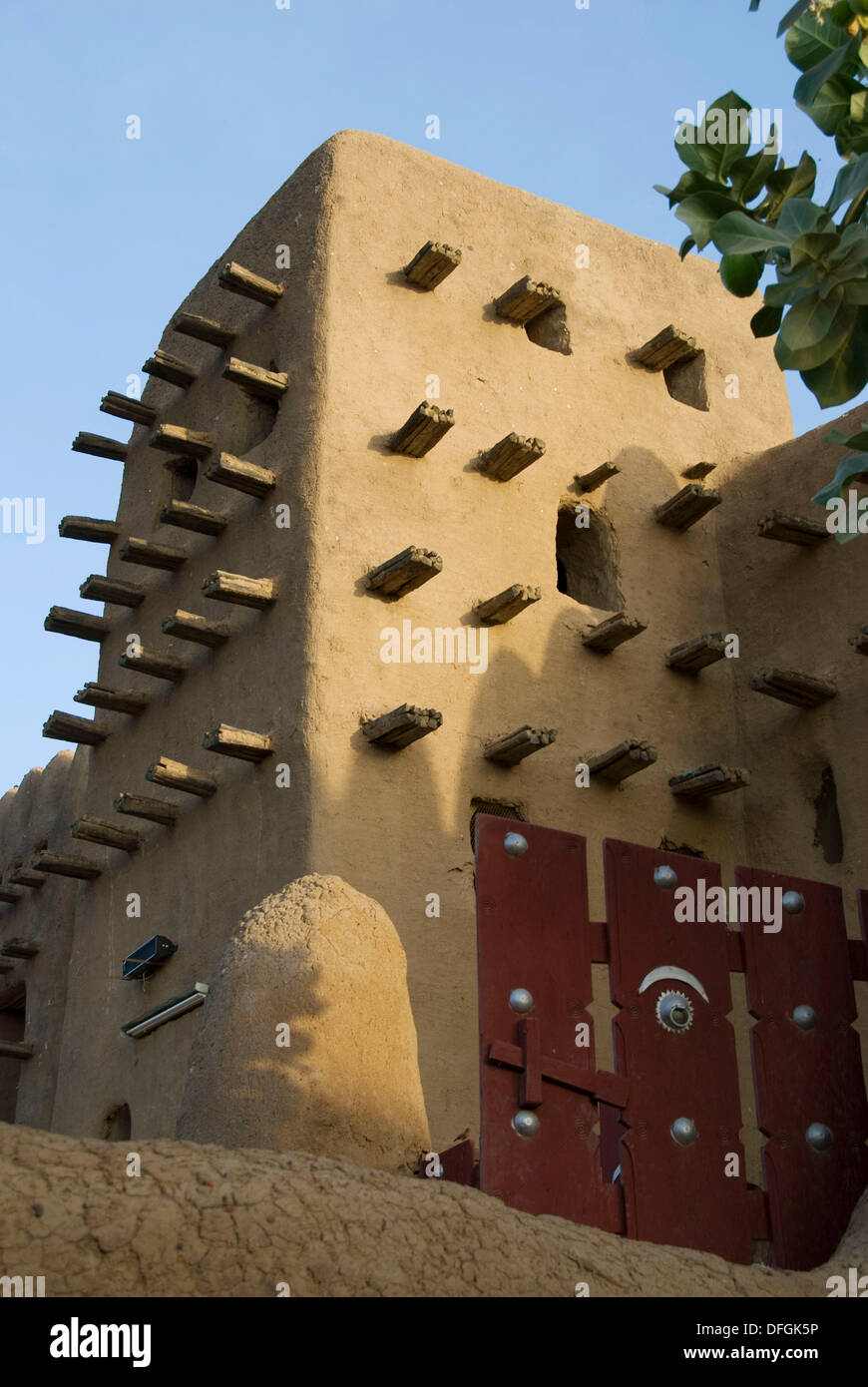 Great Mosque of Djenné. Djenné.Mopti region. Niger Inland Delta. Mali. West Africa. Stock Photo