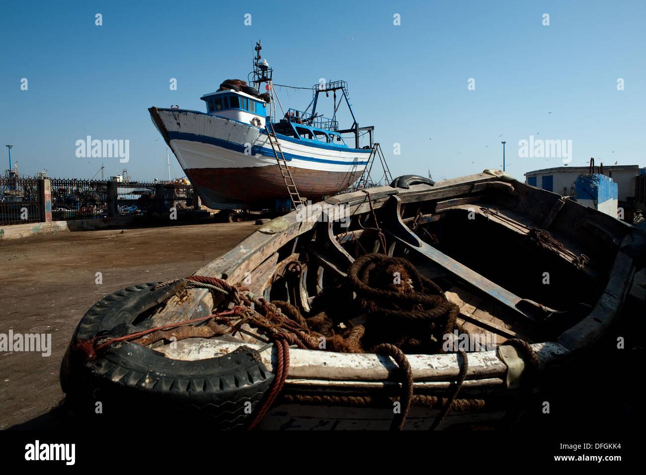 Shipyard ( Morocco) - Stock Image
