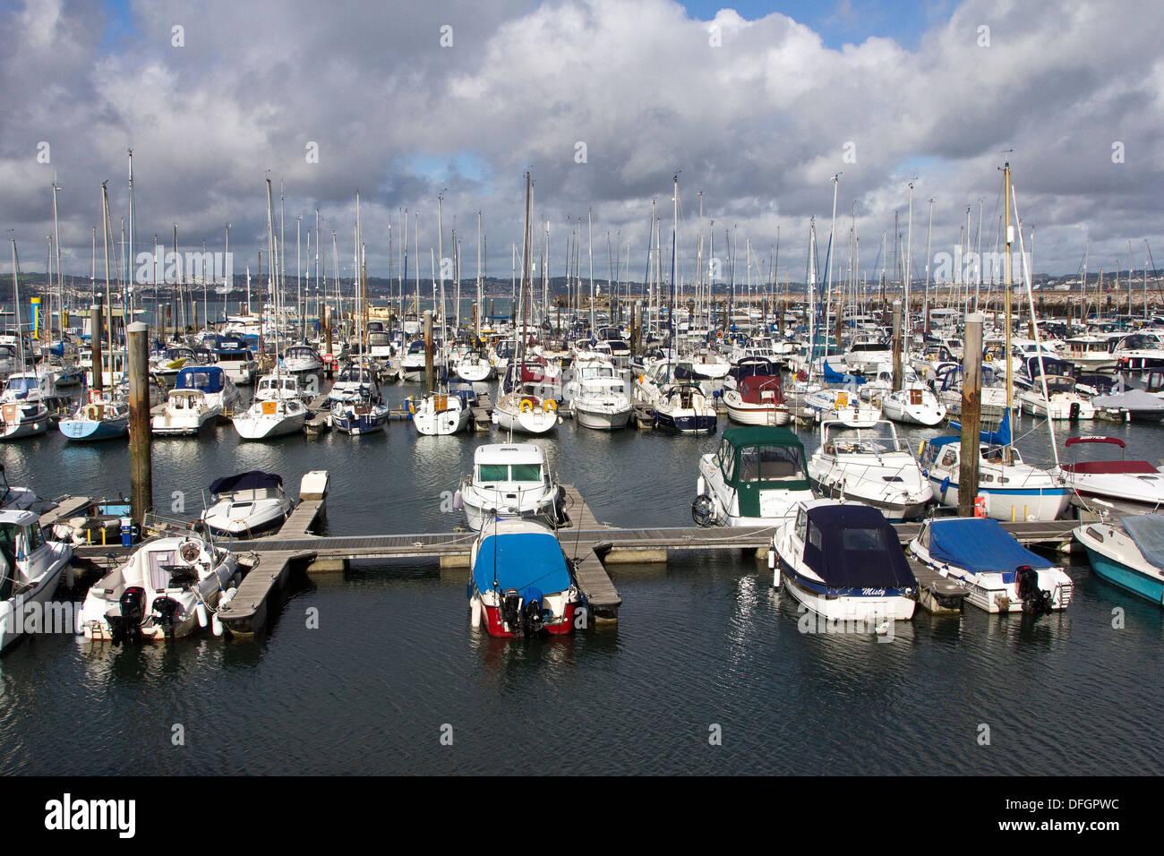 Brixham Marina,anchor, attraction, blue, boat, british, brixham, coast, coastal, devon, england, english, fishing, Stock Photo