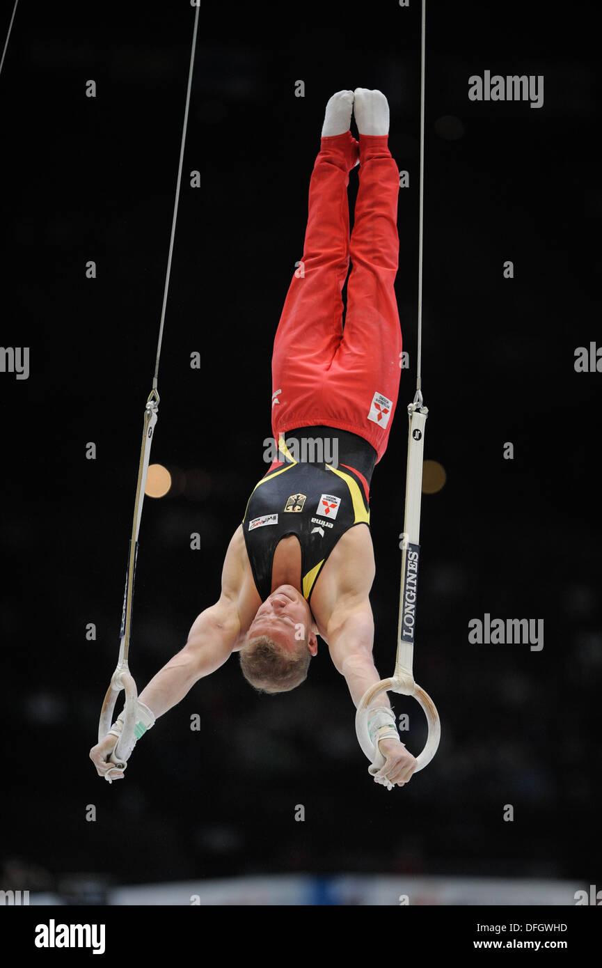 Antwerp, Belgium. 3rd October 2013. World Championship Gymnastics Antwerp Belgium. Mens All-Around Finals  Fabian Hambuechen of Germany © ALAN EDWARDS/Alamy Live News - Stock Image
