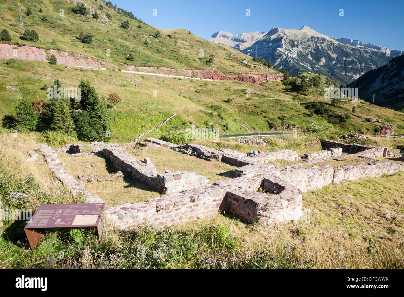 Hospital of Saint Christine of Somport in St. Jame's way, Candanchú, Huesca, Spain - Stock Image