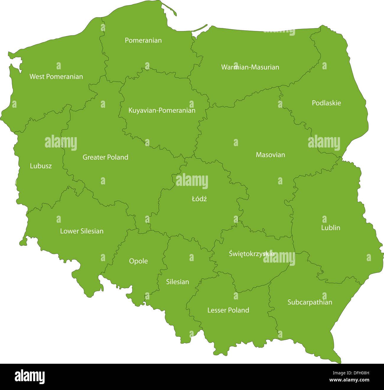Poland Map Stock Photos Poland Map Stock Images Alamy