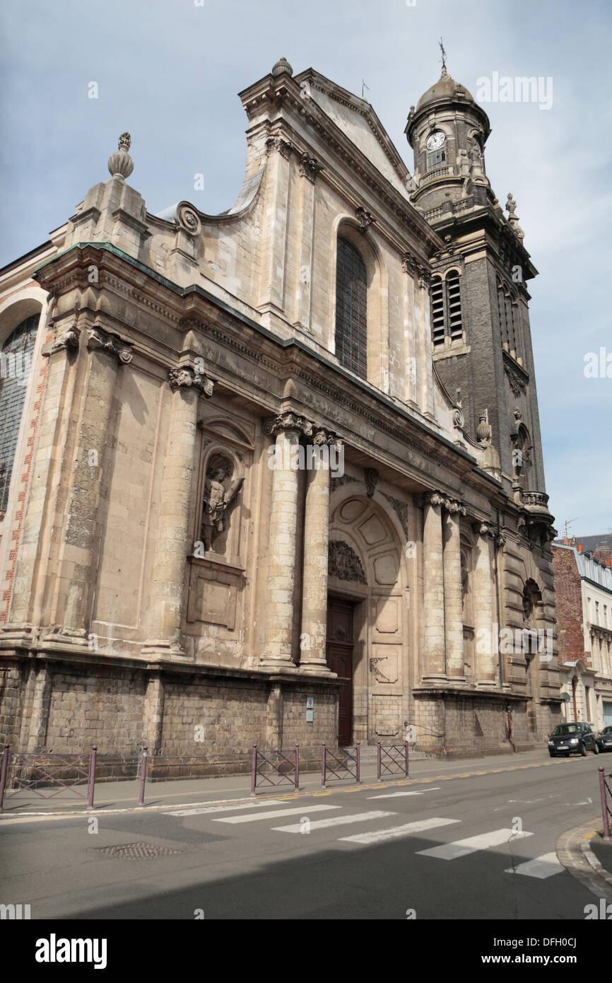 Eglise Saint-Andre XVIII siecle, rue Royale, Vieux-Lille, Lille, Nord-Pas-de-Calais, Nord, France. Stock Photo