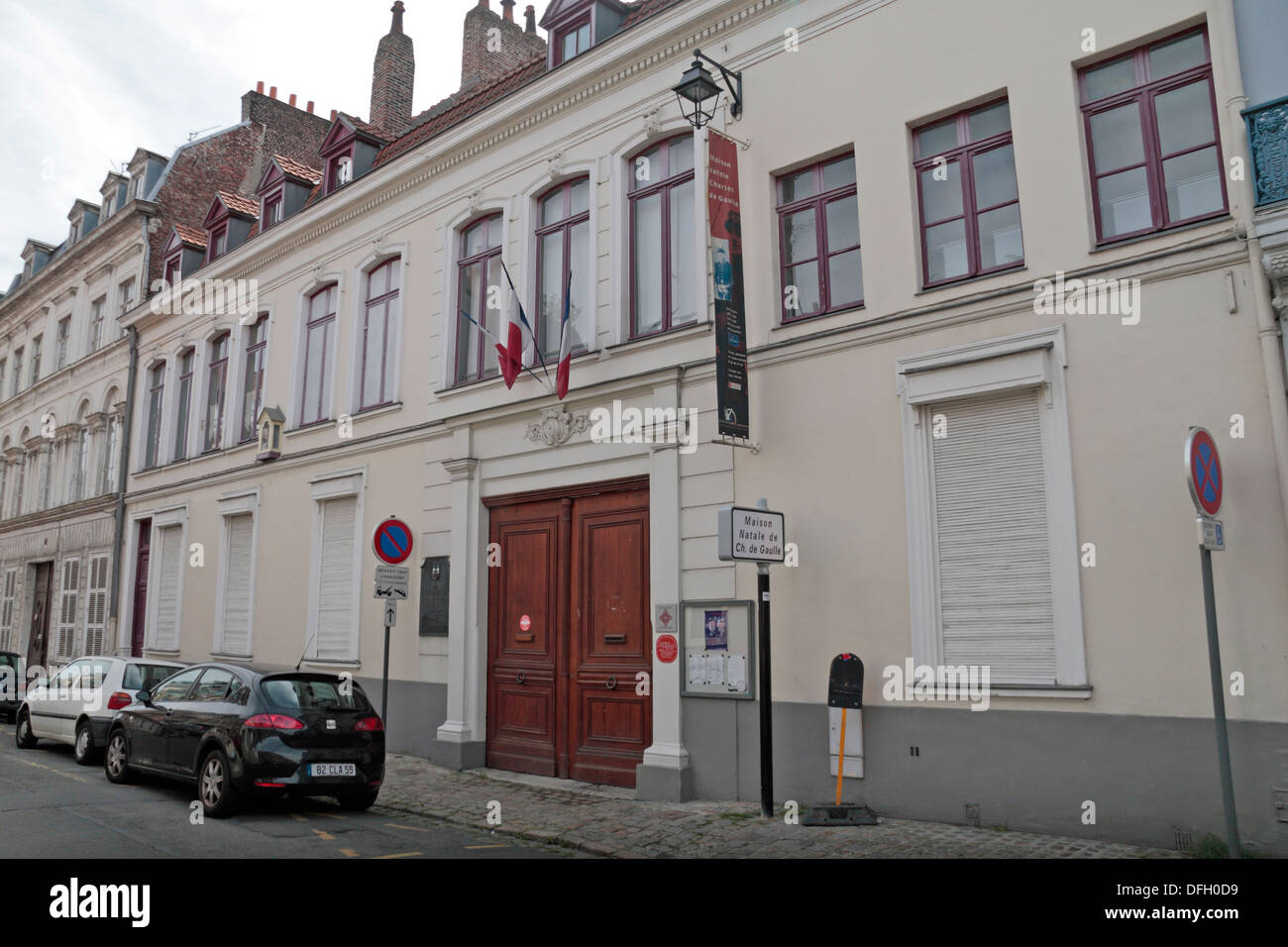 Charles de Gaulle birthplace and museum,9 Rue Princesse, Lille, Nord-Pas-de-Calais, Nord, France. - Stock Image