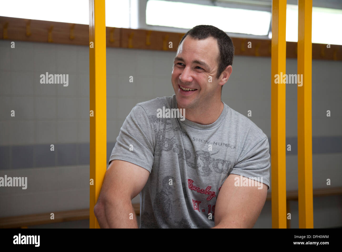 Adrian Morley, Salford Red Devils Rugby League player - Stock Image