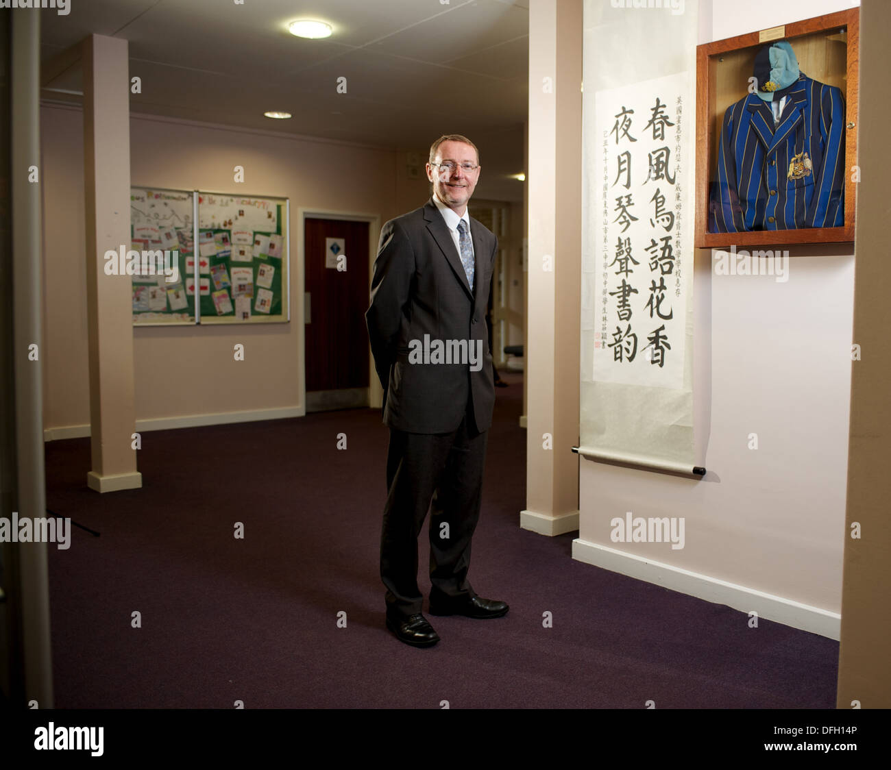 Dr Gary Holden Rochester, Kent who is widely regarded as a Super Headteacher and helps out Struggling schools - Stock Image