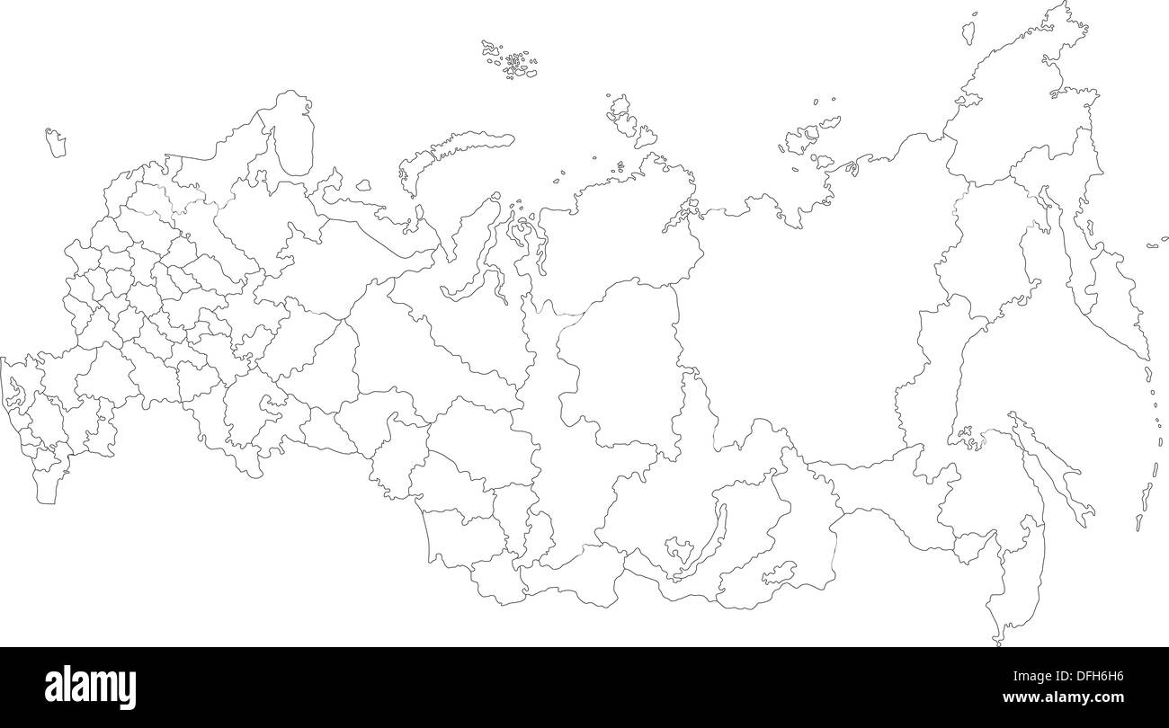 Russia Map Outline High Resolution Stock Photography And Images Alamy