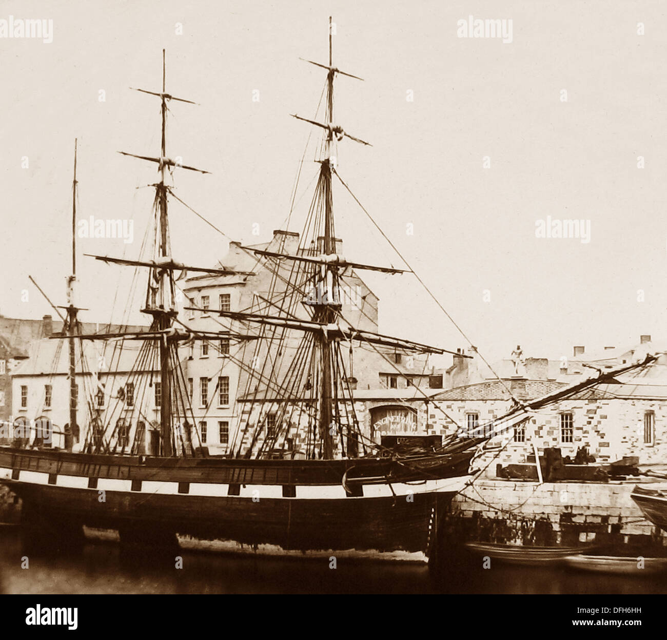 Cork Harbour - Hardy Sugar Barque - early 1900s - Stock Image