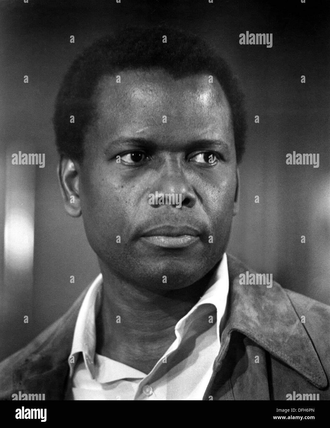 Sidney Poitier on-set of the Film, A Piece of the Action, 1977 - Stock Image