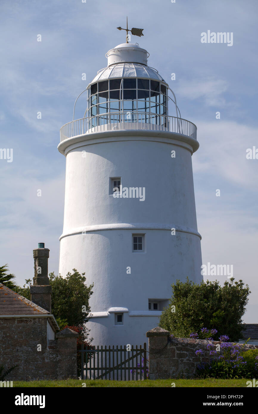 St Agnes, Isles of Scilly Lighthouse - Stock Image