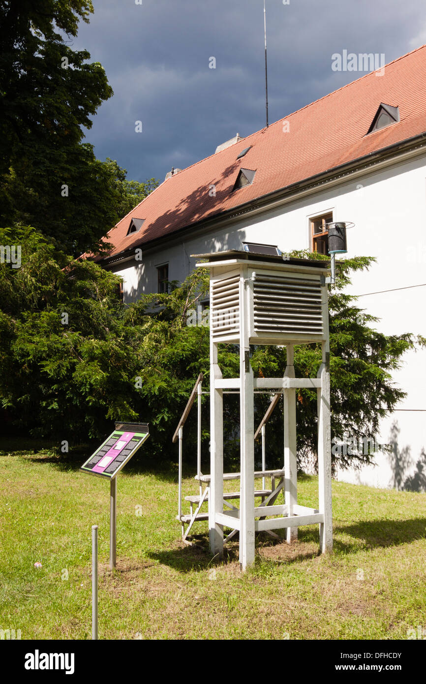 Meteorological station at the Abbey of st Thomas, Brno, Moravia, Czech Republic - Stock Image