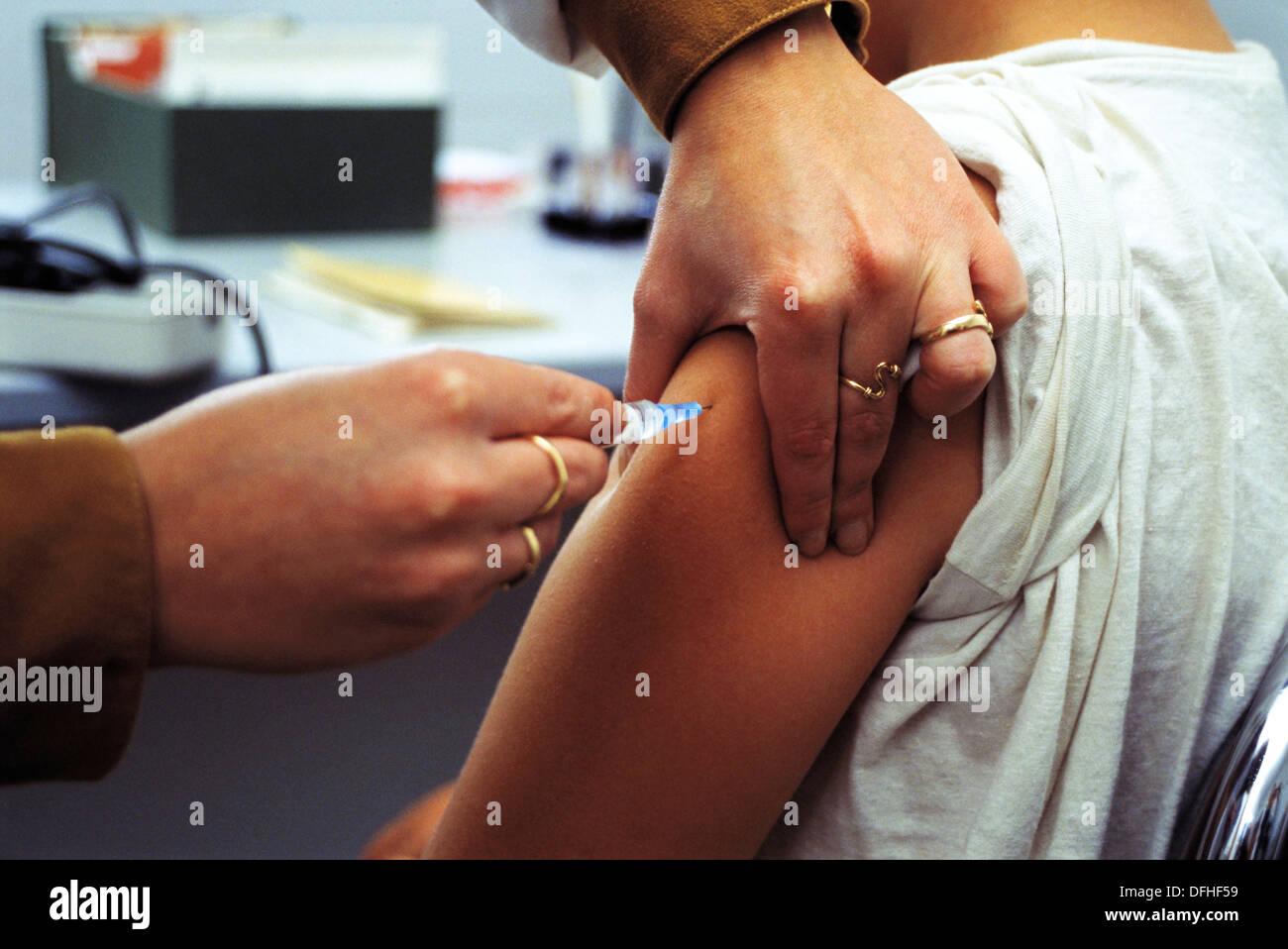 Meningitis vaccine - Stock Image
