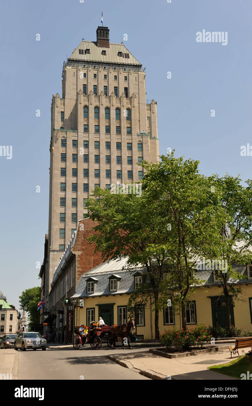 Edifice Price seen from Cook street, Quebec city, Province of Quebec, Canada, North America - Stock Image