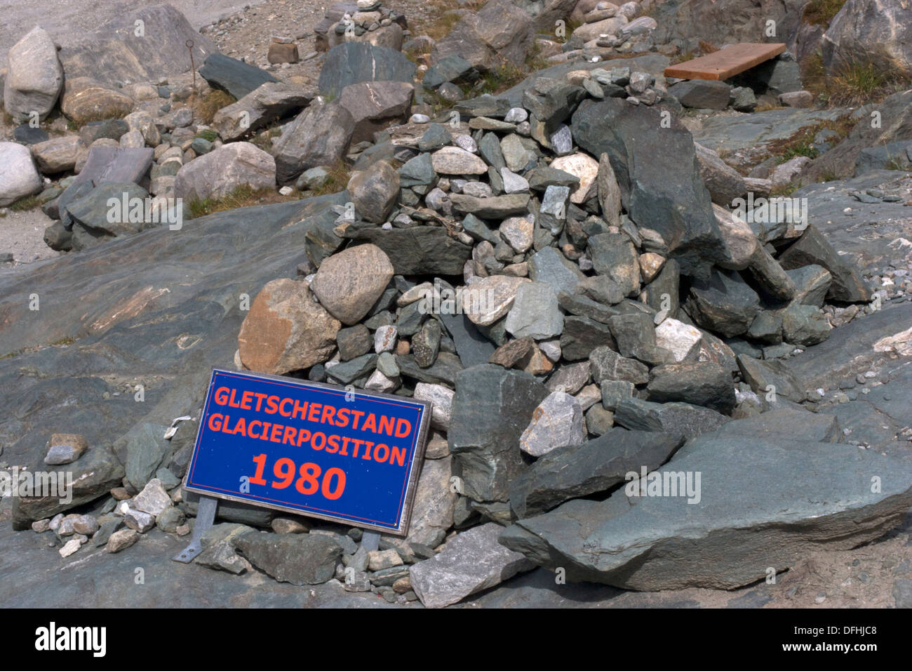 The Pasterze, Austria's most extended glacier has reduced in length since 1980 - Stock Image