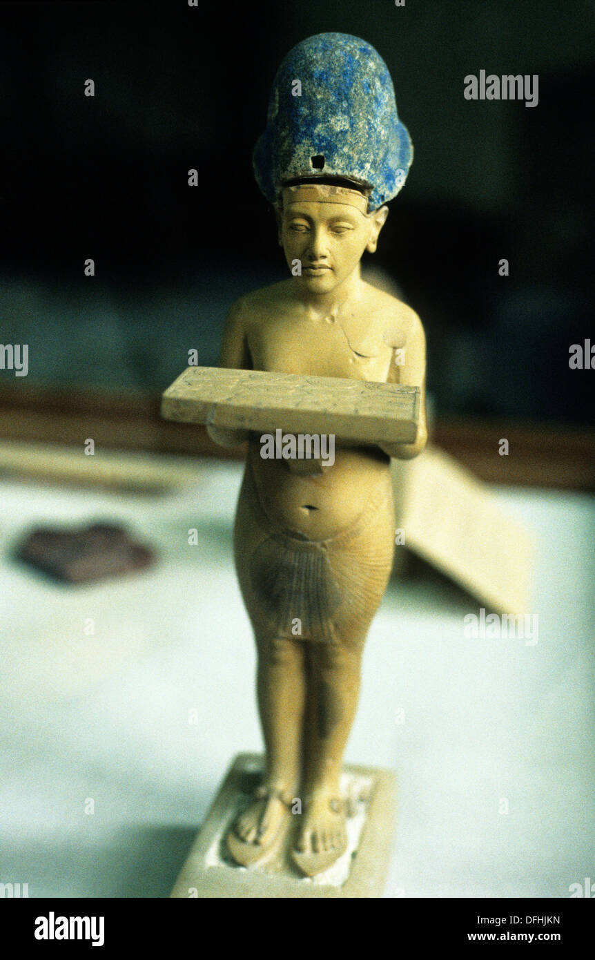 statuette of Akhenaten, Museum of Egyptian Antiquities, Cairo, Egypt, Africa - Stock Image