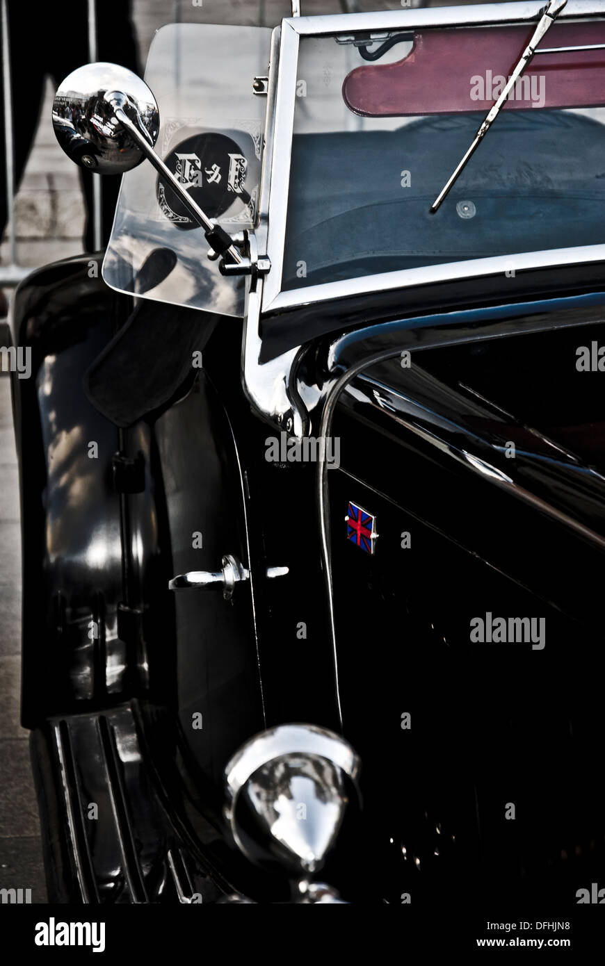 Detail of vintage car, 1930s Style - Stock Image