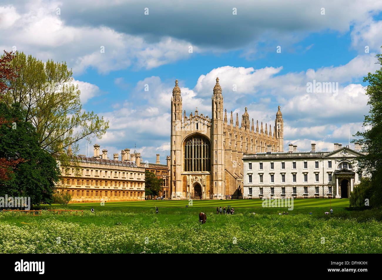 Kings College Chapel in Cambridge, UK - Stock Image