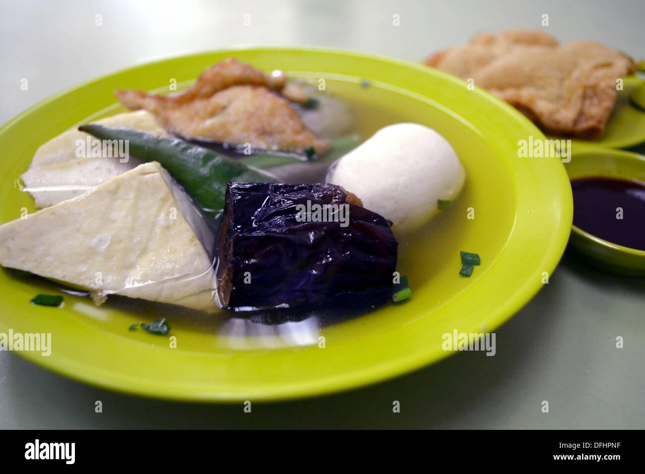Yong Tau foo, niang dou fu, yong tofu - Stock Image