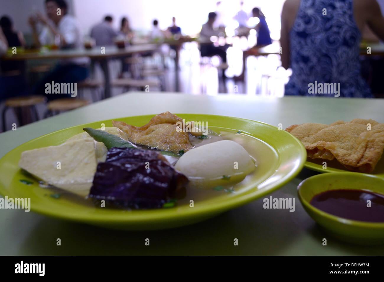 yong tau foo, niang tofu, niang dou fu, - Stock Image