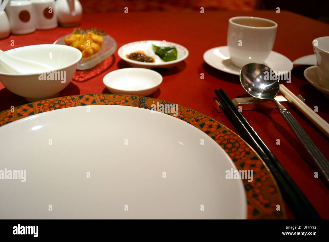 The table setting of a Chinese restaurant & The table setting of a Chinese restaurant Stock Photo: 61245550 - Alamy