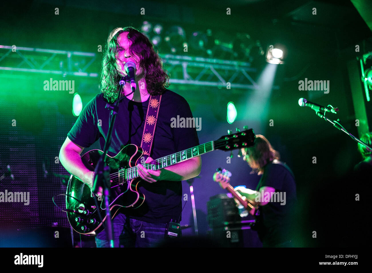 Rome, Italy. 04th Oct, 2013. Torsten Kinsella , voice and guitar by God Is an Astronaut, Ciampino (Rome), Italy Orion Club, 4-10-2013 © Roberto Nistri/Alamy - Stock Image