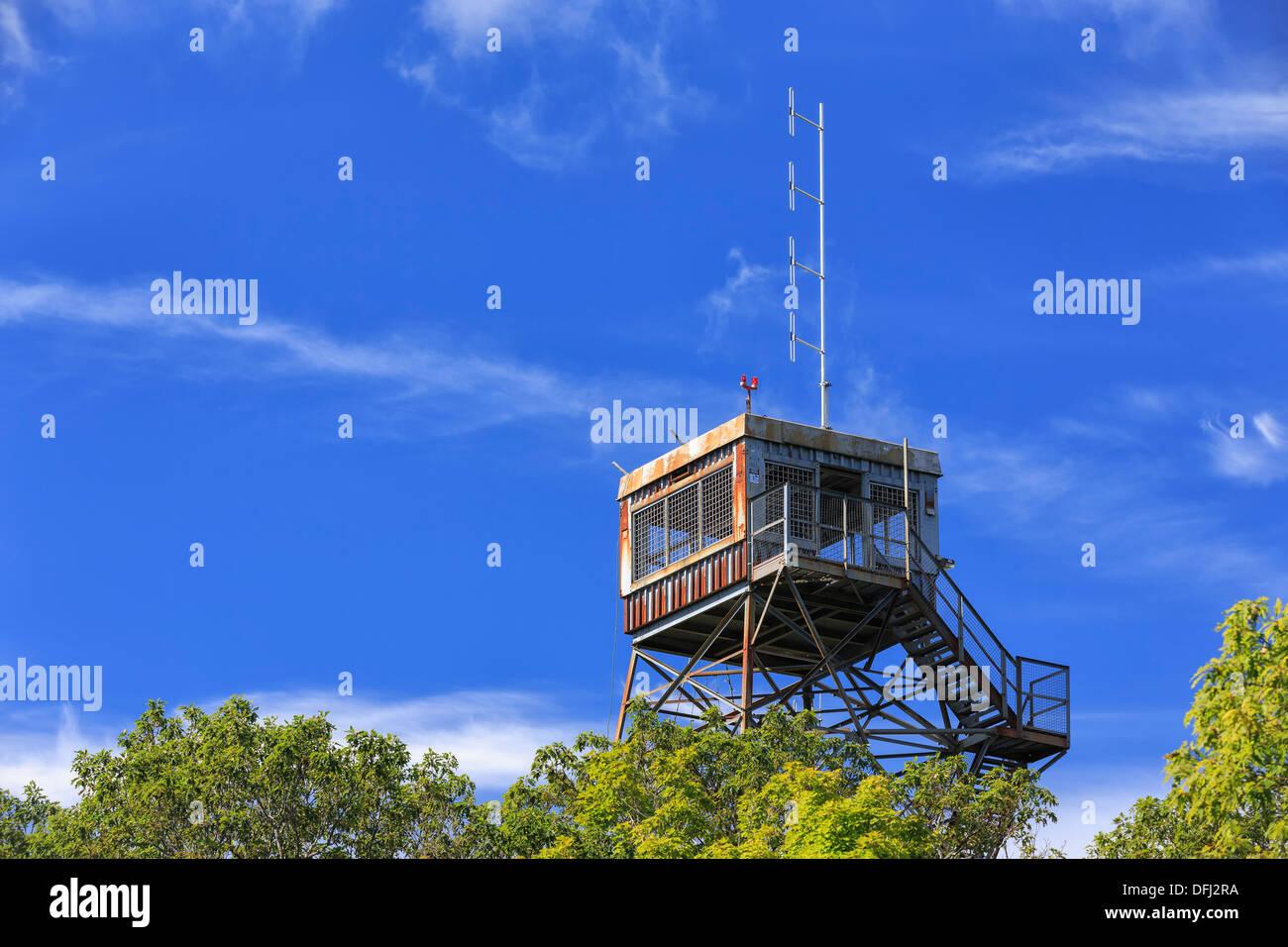Dorset Fire Tower lookout, Dorset, Ontario, Canada - Stock Image