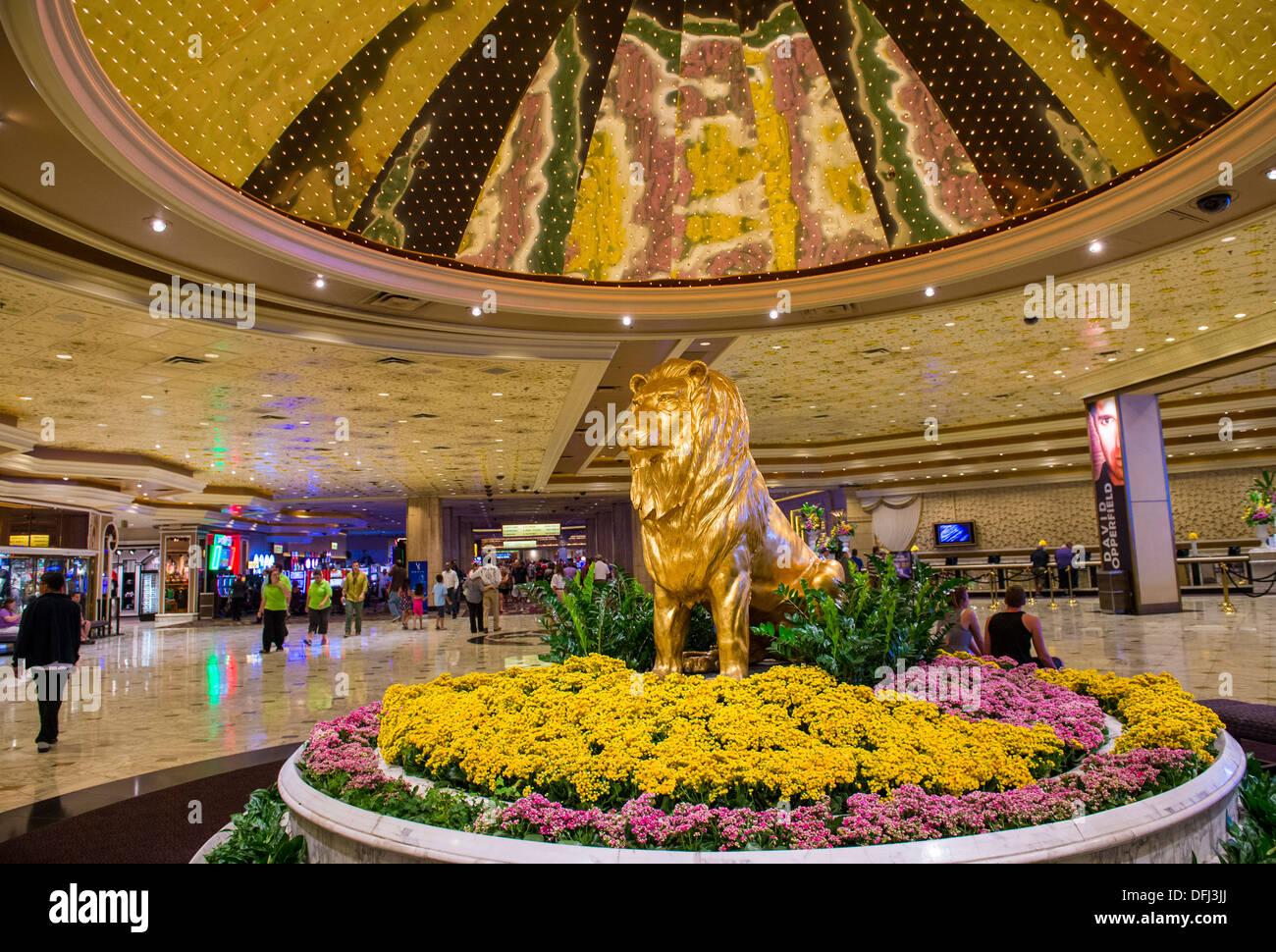 The Interior Of Mgm Hotel And Casino In Las Vegas Stock Photo Alamy
