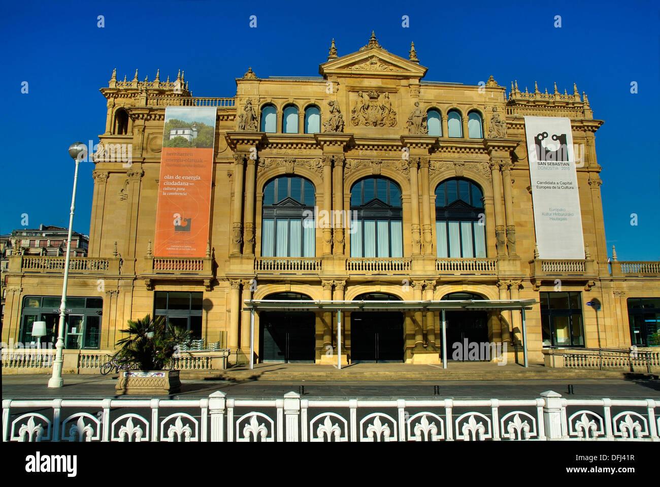 Victoria Eugenia Theater  Spanish neo-Renaissance  1912  San Sebastian Donostia  European Capital of Culture 2016  Basque - Stock Image