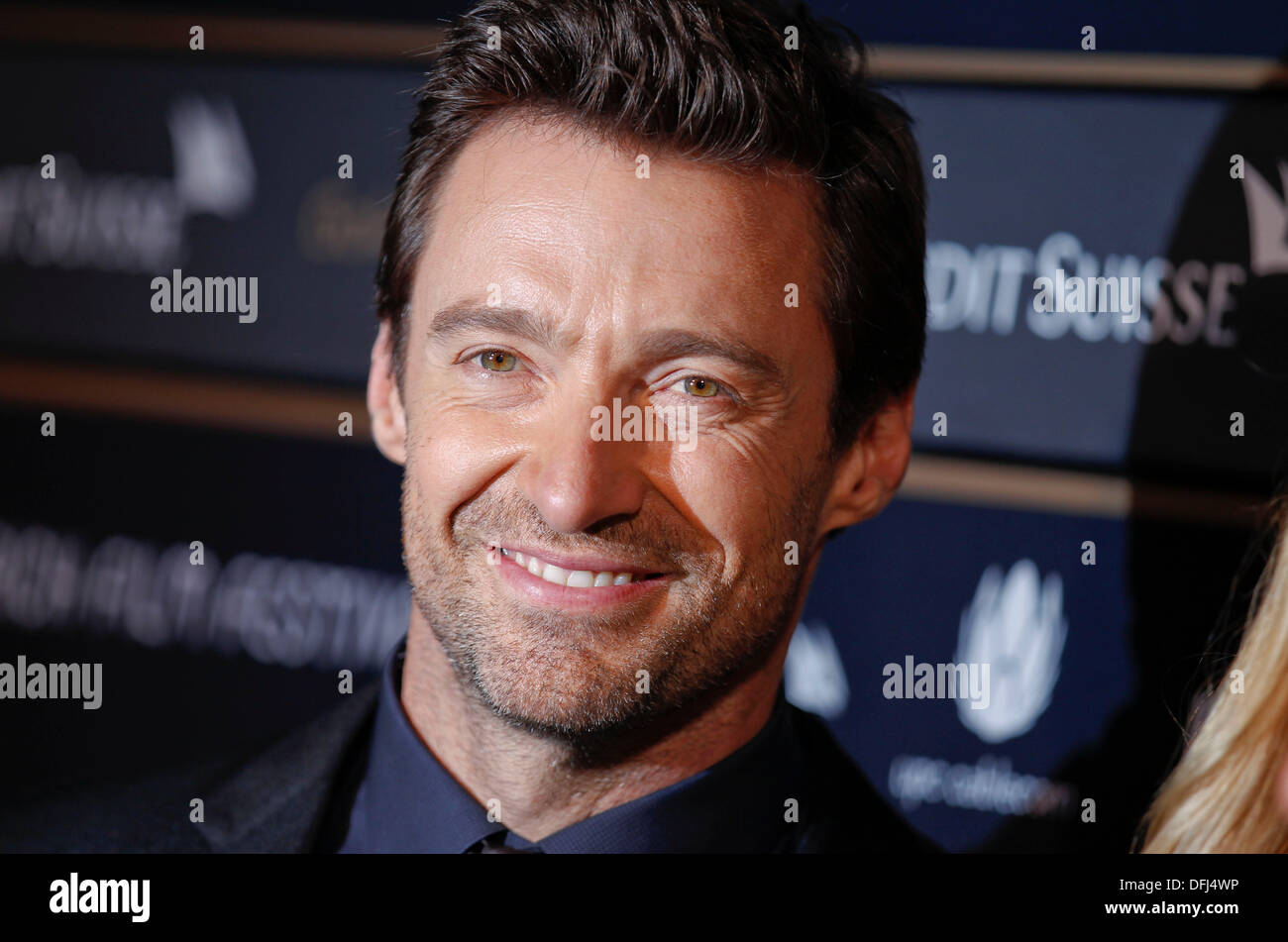 Australian Actor Hugh Jackman receiving the Golden Icon Award at Zurich Film Festival on Saturday, 28.09.2013 - Stock Image