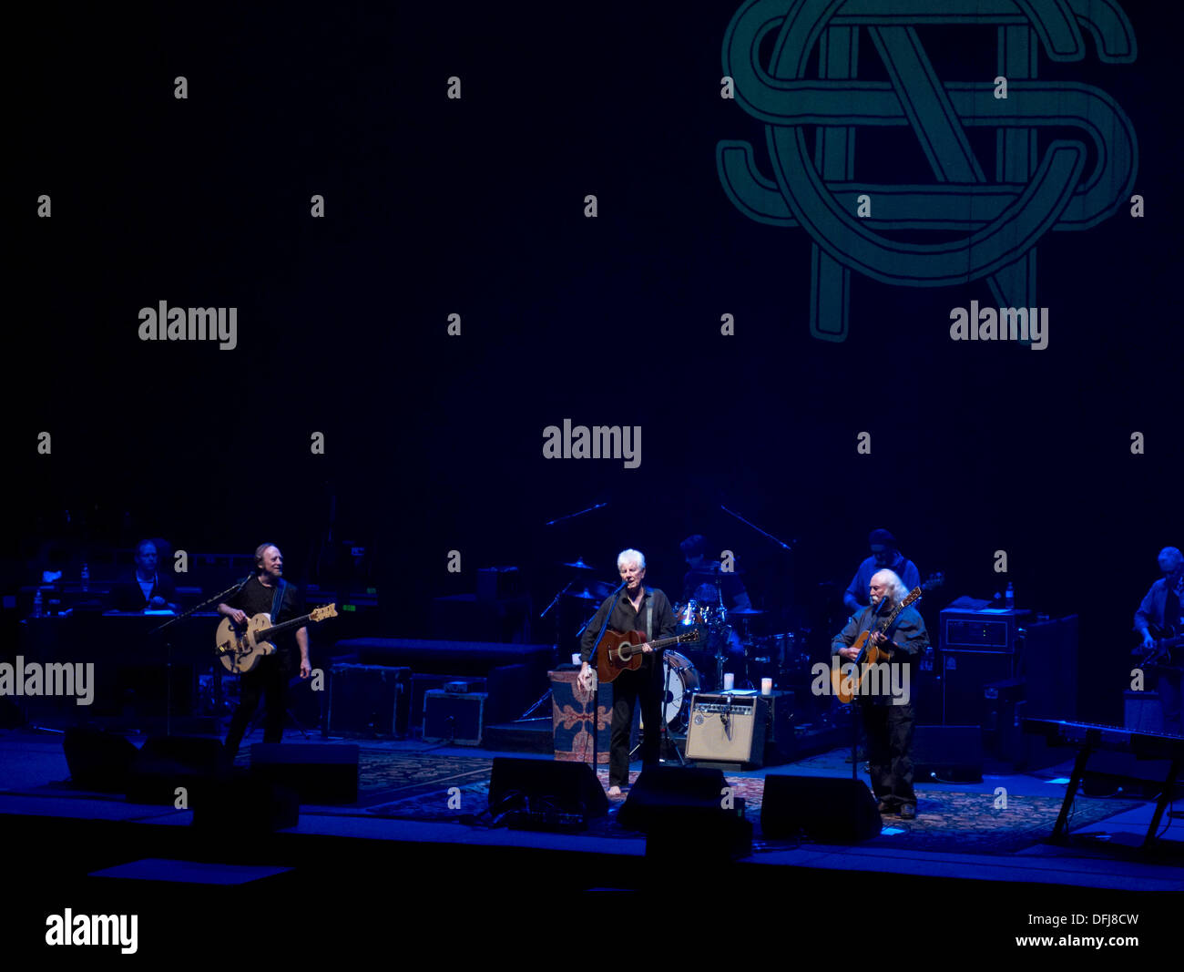 Bournemouth, UK. 05th Oct, 2013. Crosby Stills and Nash ( 5th October 2013 )  at the Bournemouth International Centre. First gig of thier UK tour.  Credit Paul Glendell / Alamy Live News Credit:  Paul Glendell/Alamy Live News - Stock Image