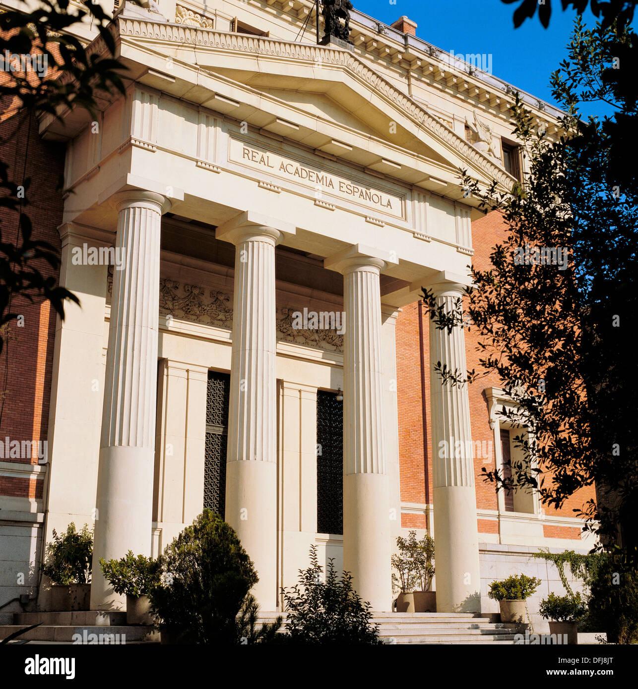 Real Academia Española de la Lengua (Royal Spanish Academy), Madrid. Spain - Stock Image