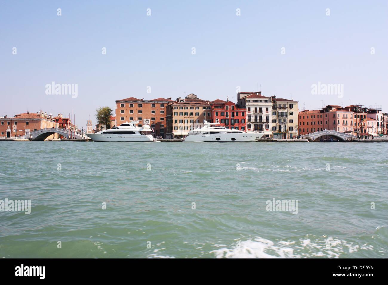 Ferry in Venice, Italy Stock Photo