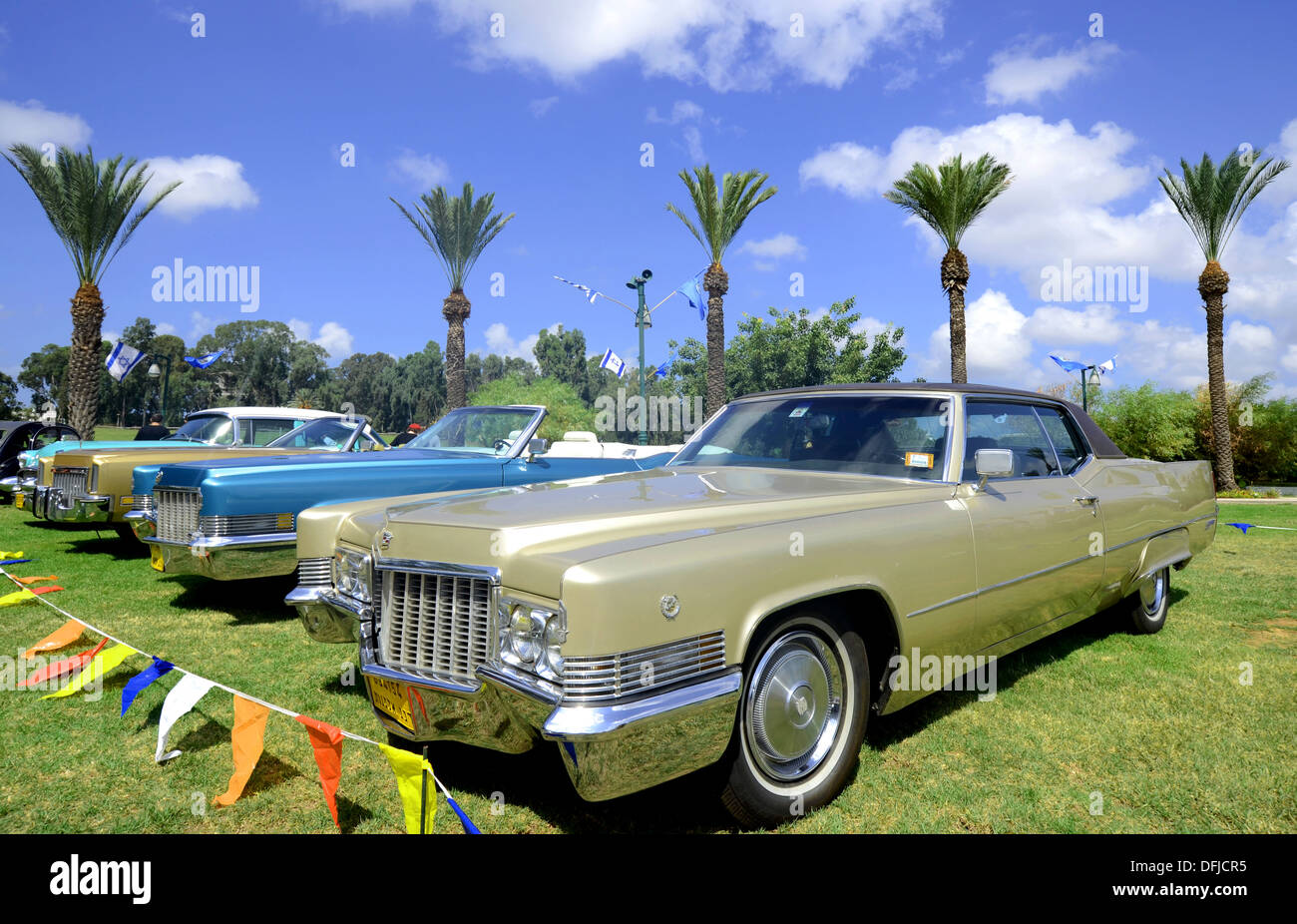 Classic Cars on display - Stock Image
