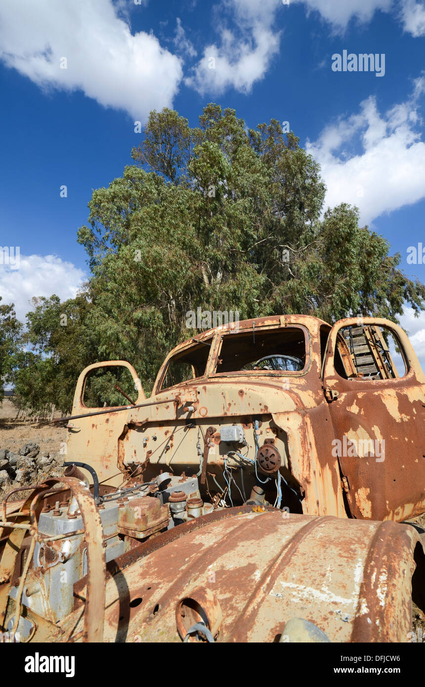 Rusting truck chassis - Stock Image