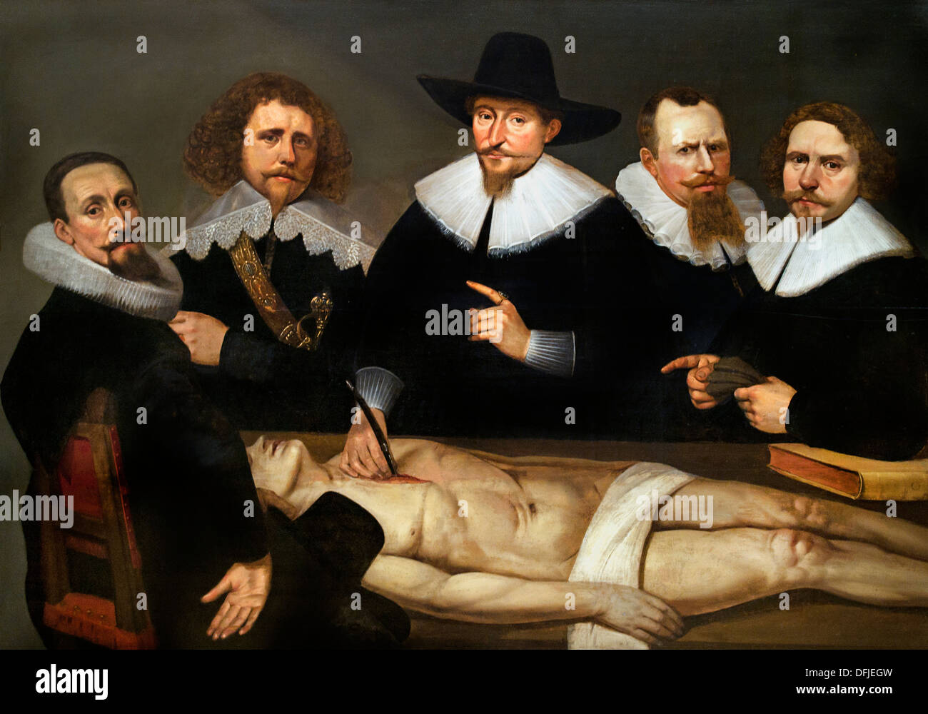 Anatomy Lessons Of Dr Zachaeus De Jager 1640 Christiaen Coevershoff