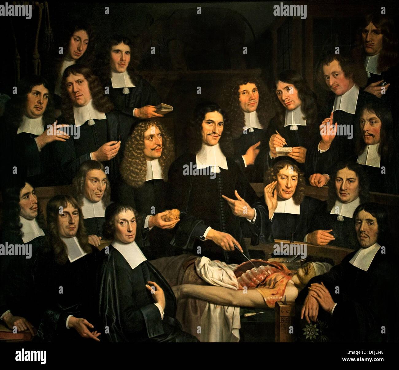 Anatomy Lesson Dr Cornelis Isaacz Stock Photos & Anatomy Lesson Dr ...