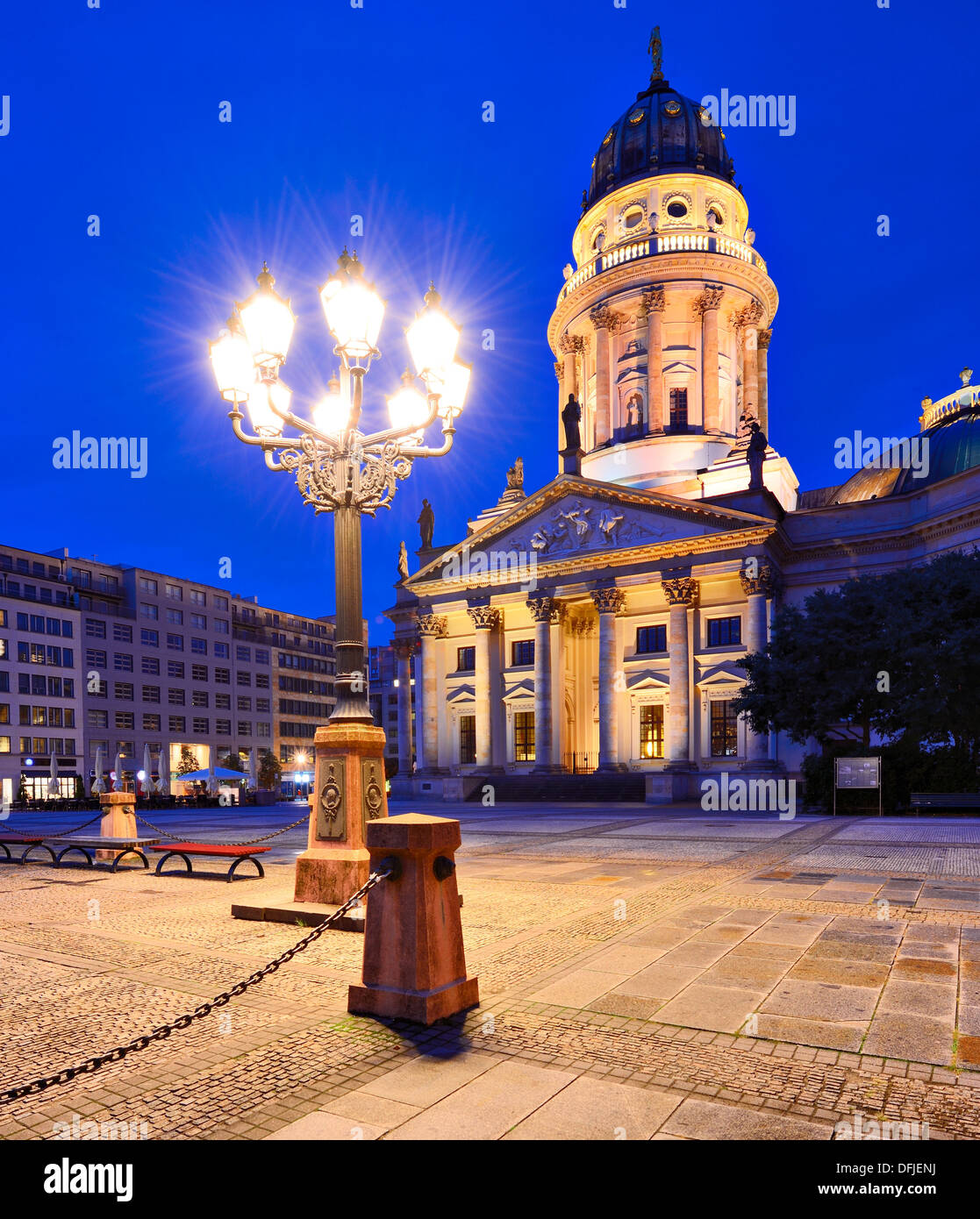 Historic Gendarmenmarkt Square in Berlin, Germany. Stock Photo